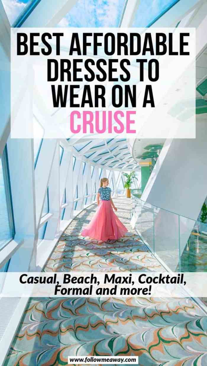 Best affordable dresses to wear on a cruise | cruise packing tips | what to wear on a cruise | cruise formal night | packing for a cruise for your first time | best dresses to pack for a cruise