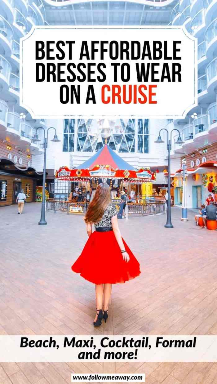 Best Affordable Cruise Dresses From Casual To Cocktail   cruise packing list   what to pack on a cruise   best dresses to wear on a cruise   how to plan your cruise outfits   what to pack for a cruise for dresses and cocktail hour