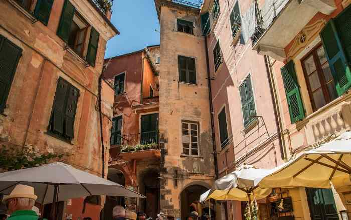 Ancient buildings in Cinque Terre Italy