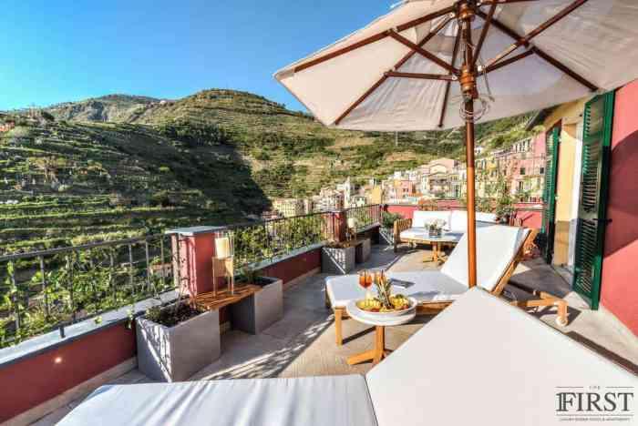 First hotel in Manarola Cinque Terre