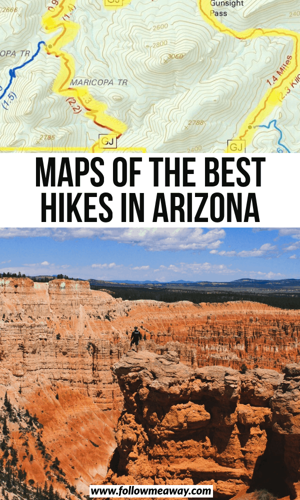 maps of the best hikes in arizona