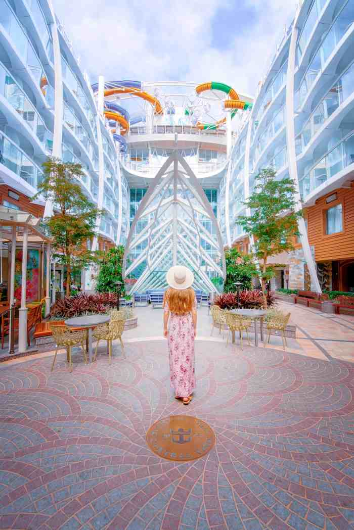 how to pose in travel photos for Instagram royal caribbean
