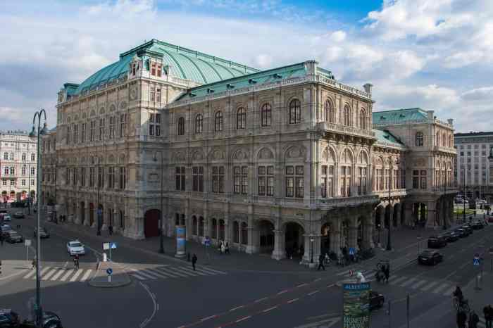Outside of the Vienna Opera House
