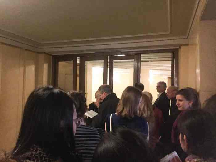 Standing in line to buy tickets for the opera in vienna