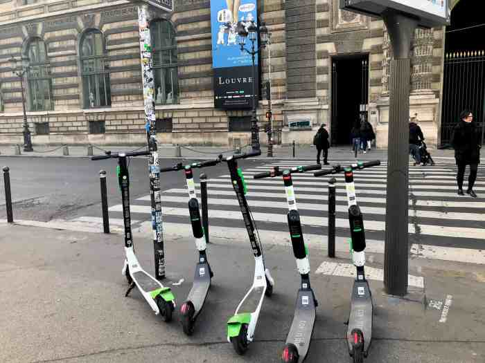 Getting Around During Sunrise In Paris you can use scooters