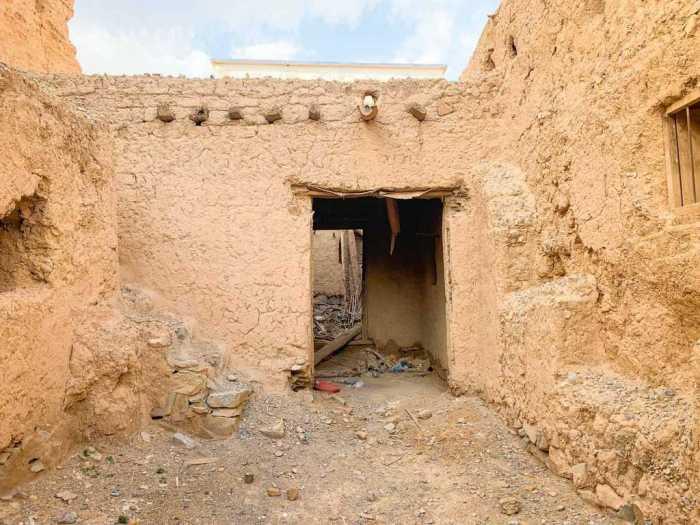 An abandoned doorway in Al Hamra Oman