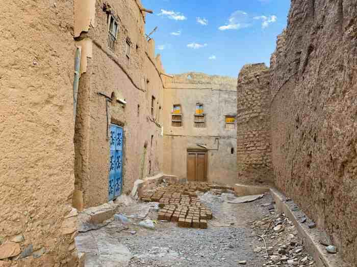 Bricks being made in Al Hamra Oman