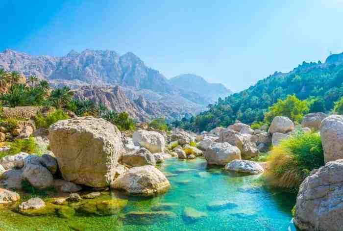 Wadi Tiwi Oman Blue pools