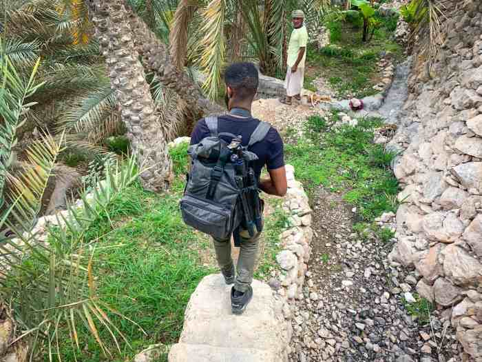 Walking in Wadi Tiwi in Oman