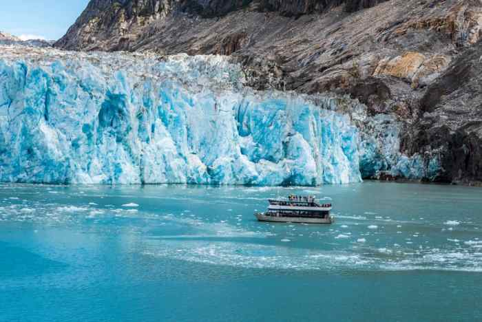 people on a glacier cruise in Alaska