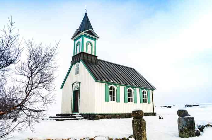 Thingvalla Kirkja Church is one of the most beautiful churches in Iceland