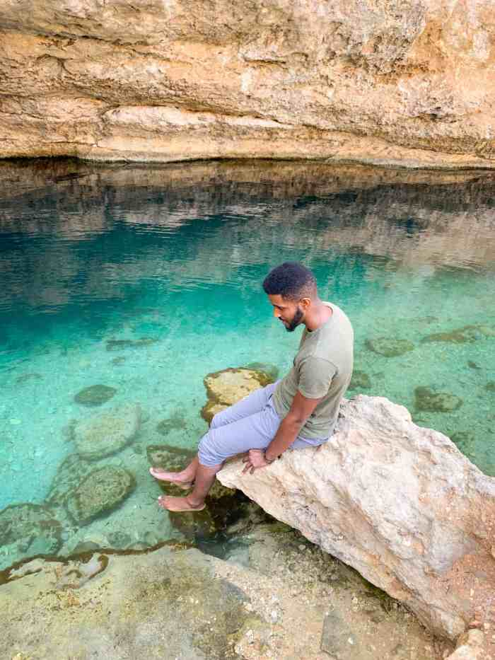 Get A Spa Treatment At Bimmah Sinkhole For One Of The Best Free Things To Do In Oman