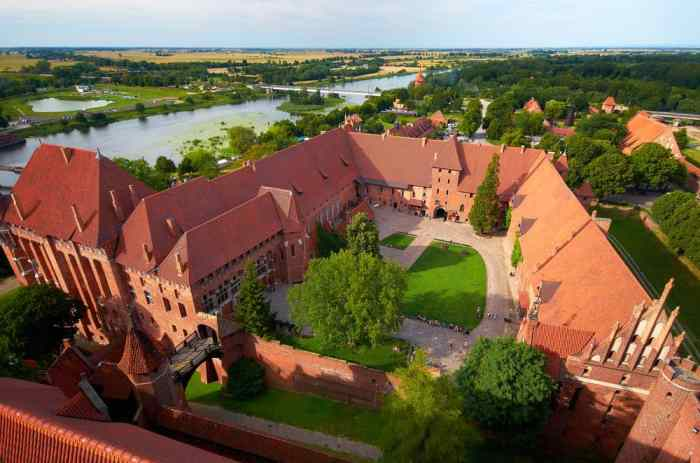 Malbork castle is the largest castle of Europe by land area
