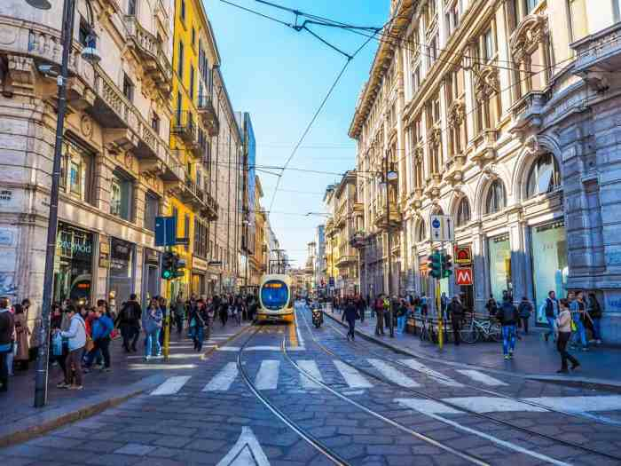 Via Torino is a great road to do some shopping on your one day in Milan