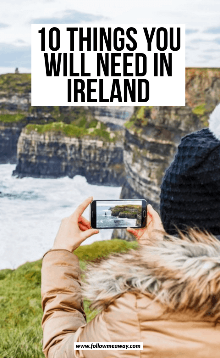 10 things you will need in ireland
