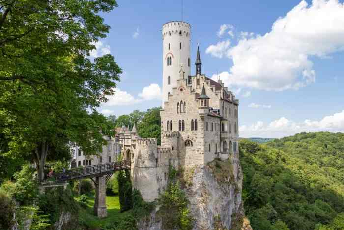 Unlike many castles in Germany, Lichtenstein Castle sits on the edge of a cliff