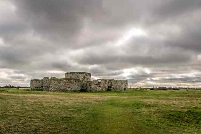 Camber Castle is known for the sheep that graze in the meadows