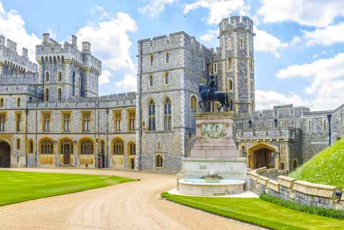 Windsor Castle is still used by the queen and is one of the most famous castles near london