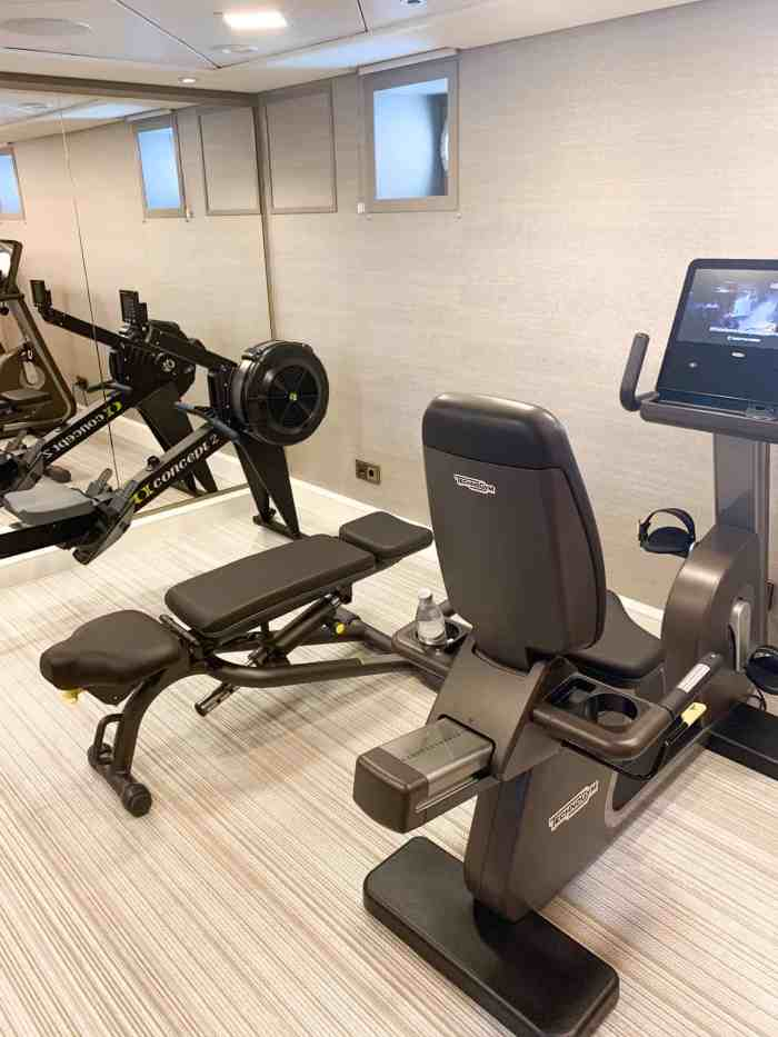 fitness room on european river cruise