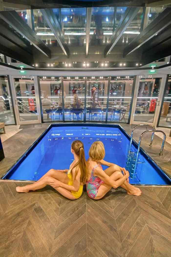 pool area on crystal river cruises