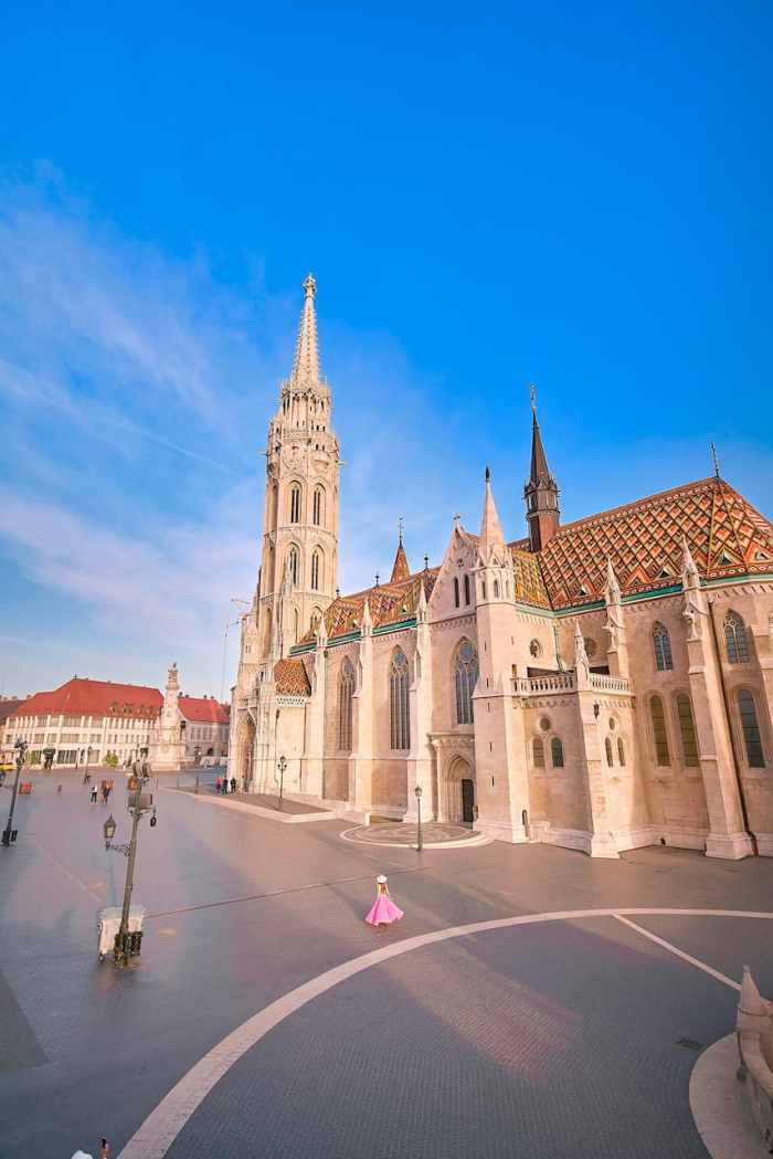 stunning view from Matthias Church in Budapest