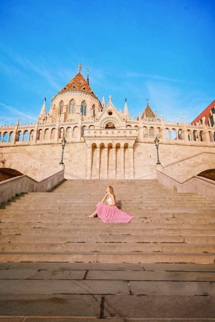 lovely center staircase in Budapest