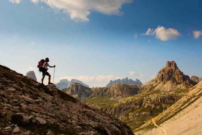 Walking shoes are a must to add to your Europe packing list so you can enjoy adventures and hikes and be comfortable when exploring mountains such as these!