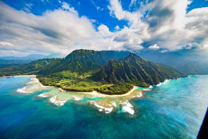 An Ariel View of Hawaii's mainland: something you might want to see when thinking of your hawaii packing list!
