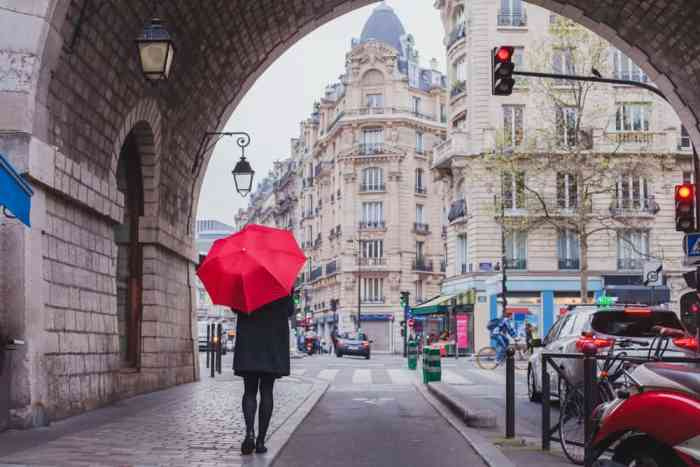 weather in Paris can be unpredictable, so make sure to pack for all accounts by bringing ponchos, jackets and sunscreen!