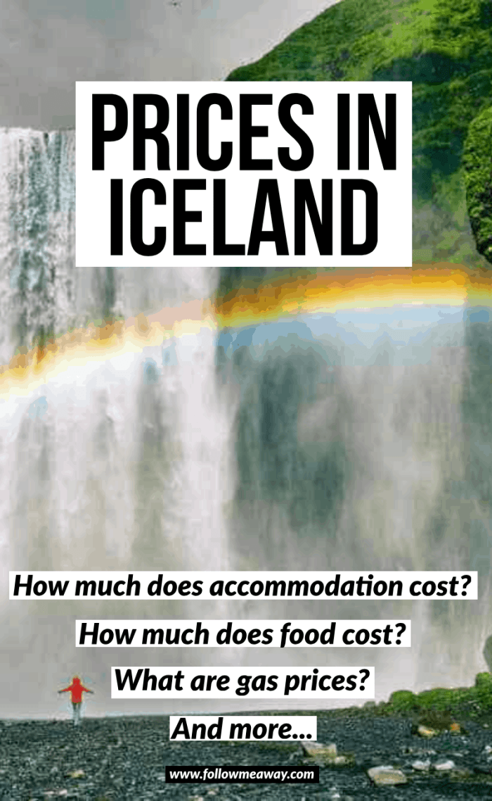 prices in iceland