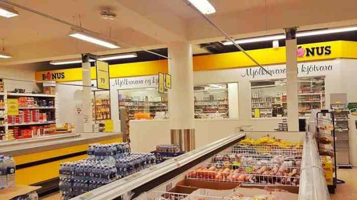 grocery prices in Iceland at Bonus supermarket