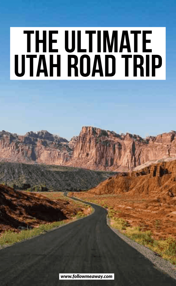 the ultimate utah road trip