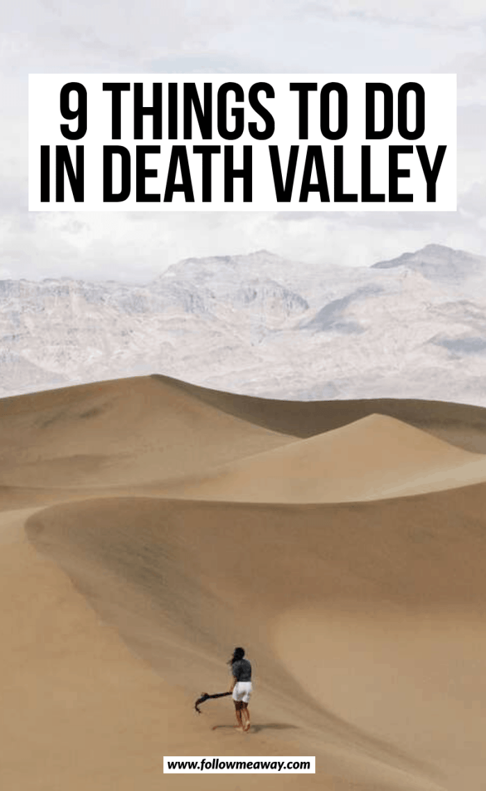 9 things to do in death valley
