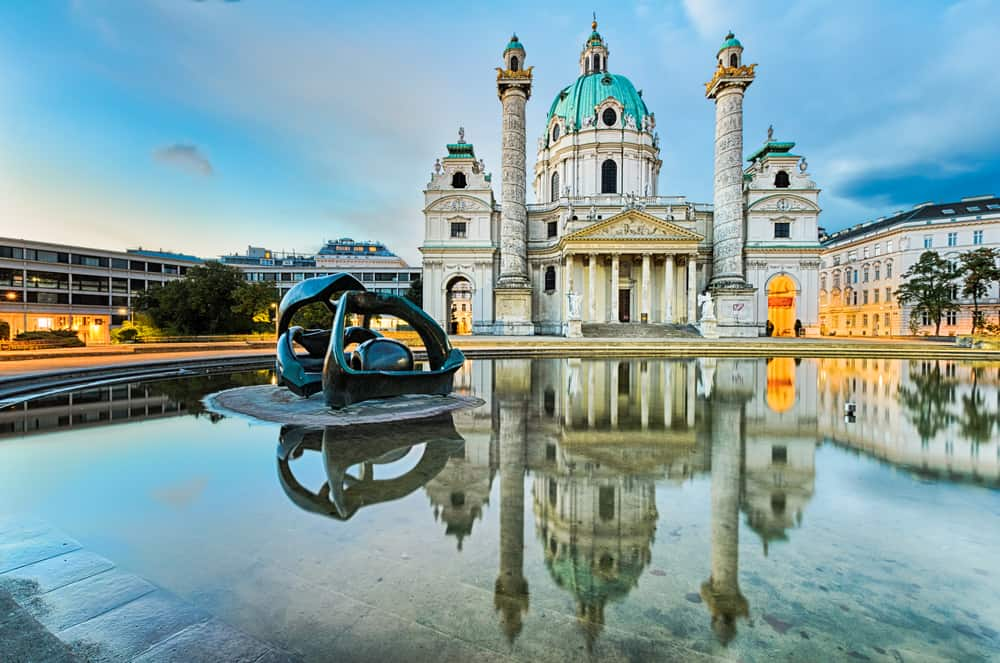 Karlskirche Church is a historic sight you need to see after deciding where to stay in Vienna