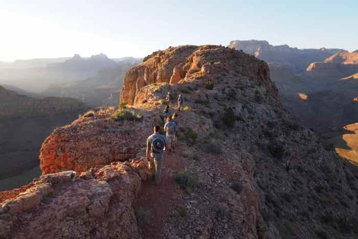 the Grandview Trail is one of the best Grand Canyon hikes for seeing mine remnants