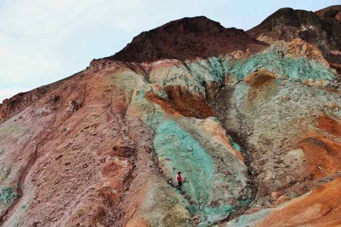 visiting Artists Palette is one of the best things to do in Death Valley to see vibrant natural colors