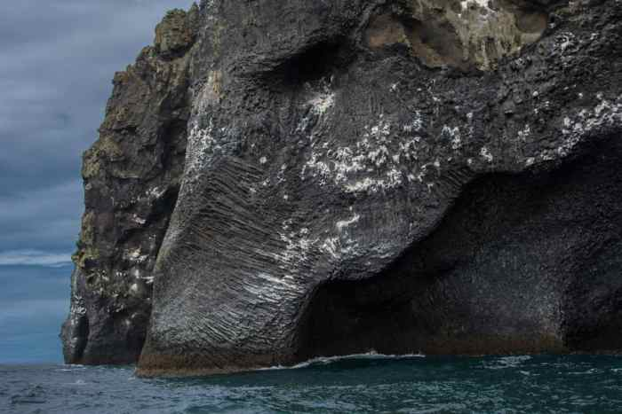 rock in iceland shaped like elephant