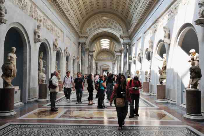 The Vatican Museums show 20,000 pieces of work attracting thousands of visitors a week.