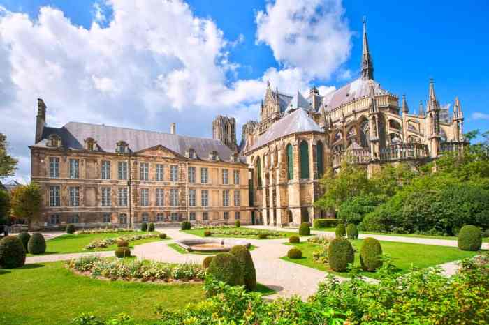 Beautiful cathedral in Reims, stop 9 on your France road trip
