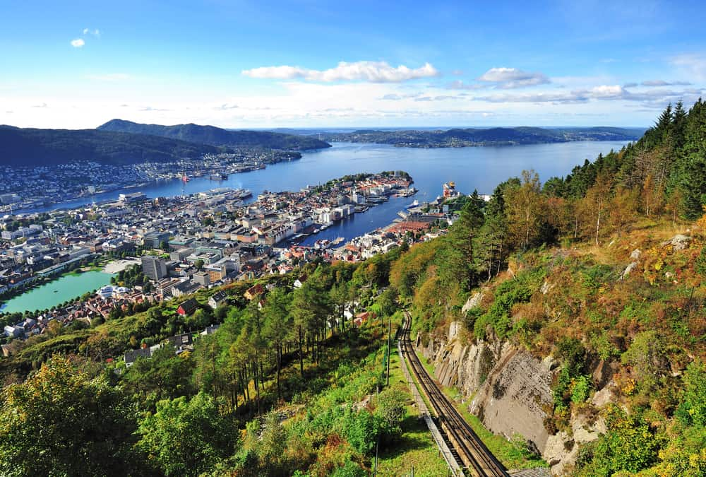 Photo of Mt Fløyen Near Norway Itinerary Stop of Bergen