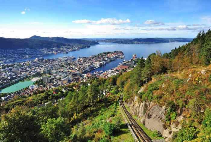 Photo of Mt Fløyen Near Norway Itinerary Stop of Bergen