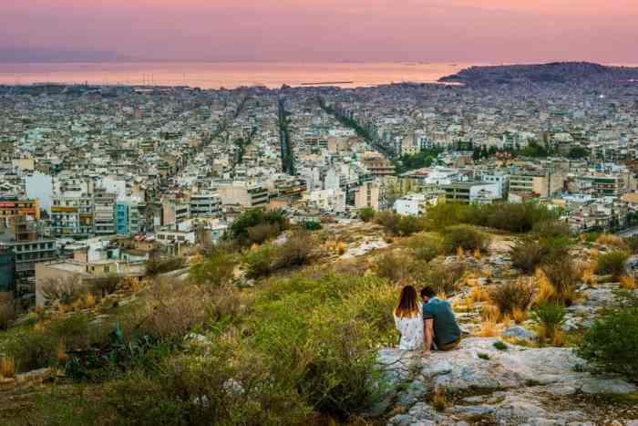 Photo of mountain view of Athens.