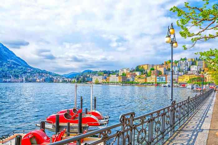 One of the lakes in Italy, Lake Lugano, is shared by another country