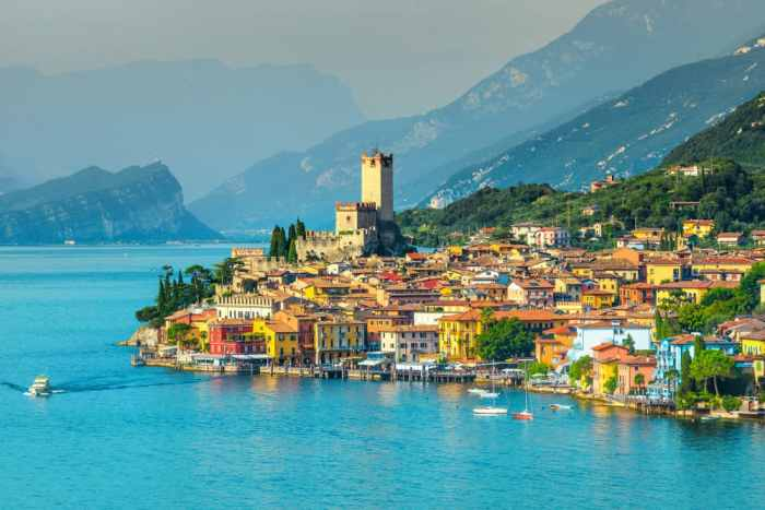 Another one of the beautiful lakes in Italy, Lake Garda