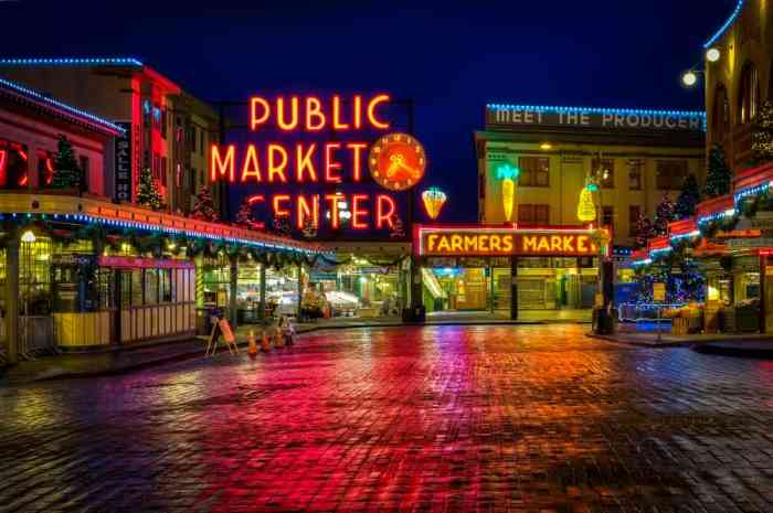 Seattle's Pike Place Market on your west coast road trip
