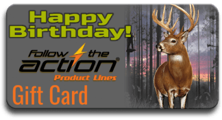 Follow the Action Trophy Buck Birthday Gift Card