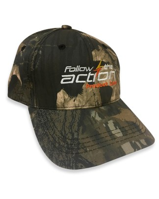 Follow the Action Limited Edition Embroidered Camo Cap