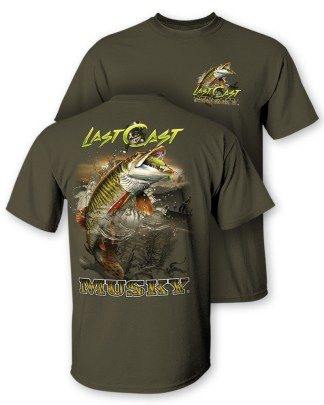 "Follow the Action - Musky ""Last Cast"" Two-Sided T-Shirt"