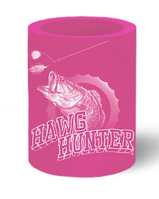 """Follow the Action Largemouth Bass """"Hawg Hunter"""" Pink Koozie Can Cooler"""