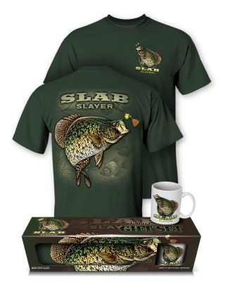 "Follow the Action - Crappie ""Slab Slayer"" T-Shirt and Mug Premium Gift Set"